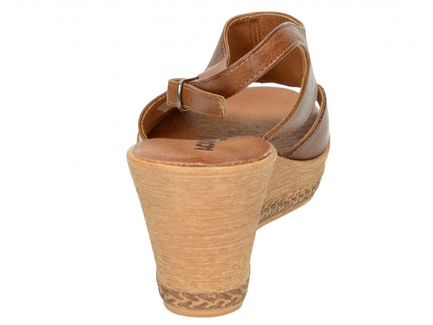add948b9a2 ... Acord dámske sandále - hnedé ...