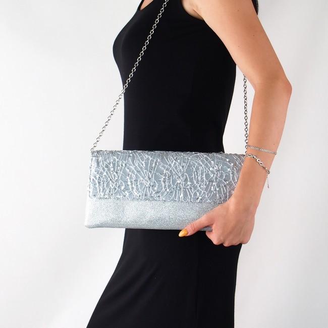 ... Menbur dámska spoločenská kabelka - strieborná ... aebe8c85f3