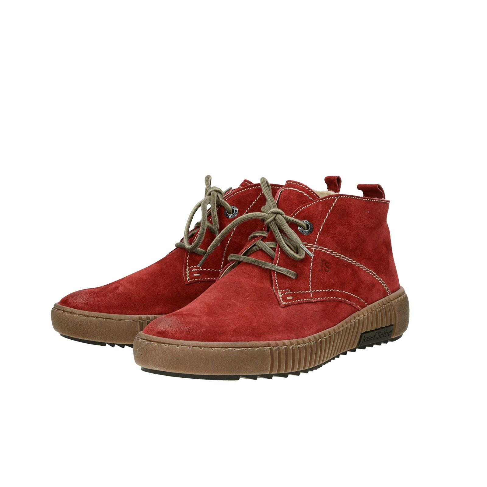 ... Josef Seibel dámske semišové zateplené tenisky - červené ... b3b6c7d2791