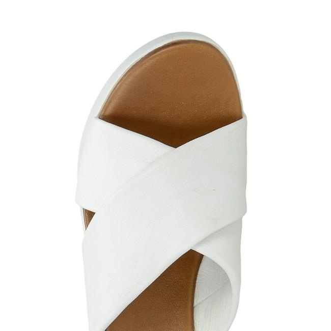 2ddd2e2d1c7b Inuovo dámske elegantné šľapky na klinovej podrážke - biele ...