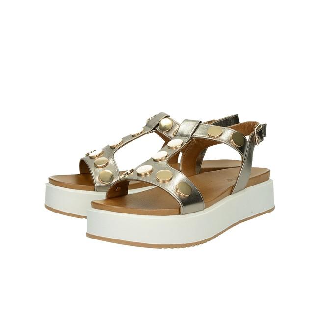 7d03cacb2d7e ... Inuovo dámske štýlové sandále s remienkom - bronzové ...