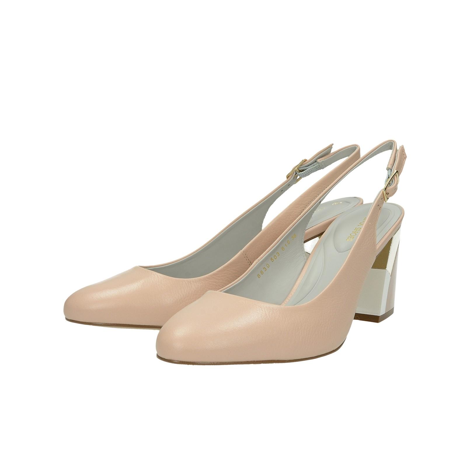4c2f53fcb4c0 ... Olivia shoes dámske kožené sandále s remienkom - béžové ...