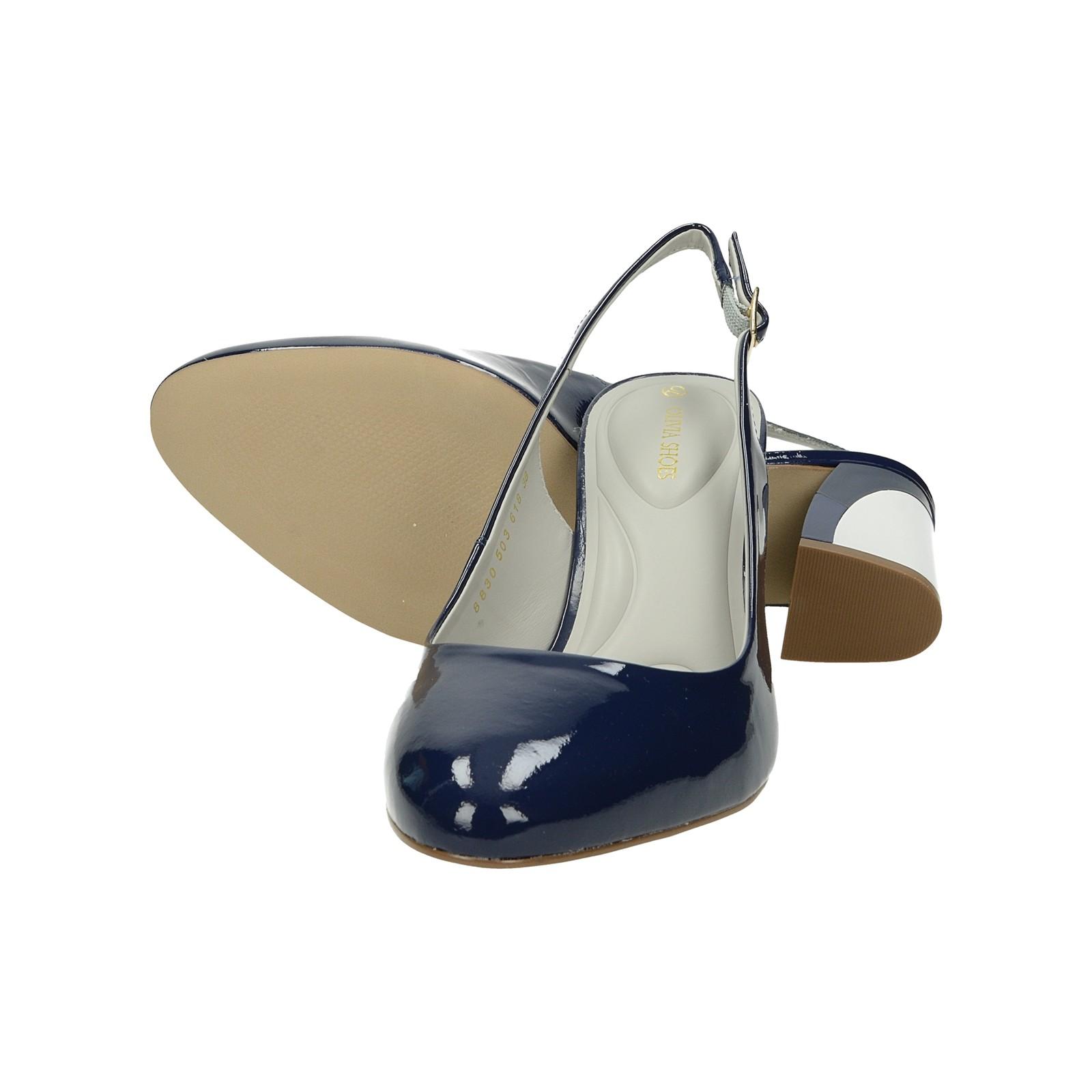 5a3ed7be02c2 ... Olivia shoes dámske lakované sandále s remienkom - modré ...