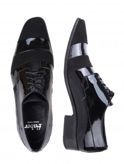 920d97e22d Spoločenské topánky. Faber pánske lakované poltopánky - čierne ...