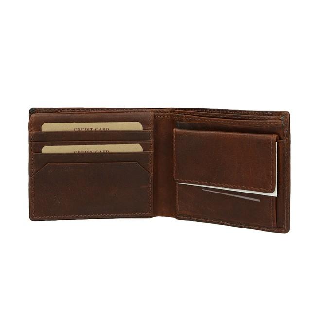 d6cbf3567968 ... Lagen pánska praktická peňaženka - hnedá ...