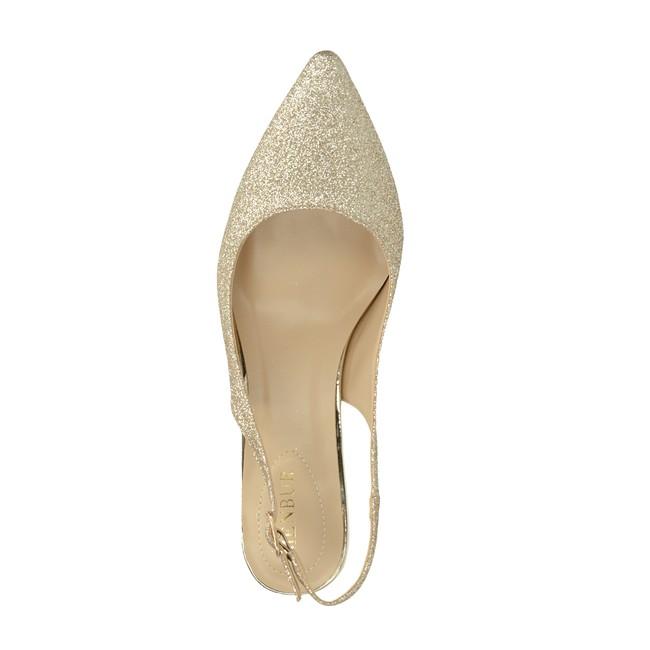 aab8646130a7 ... Menbur dámske spoločenské trblietavé sandále - zlaté ...