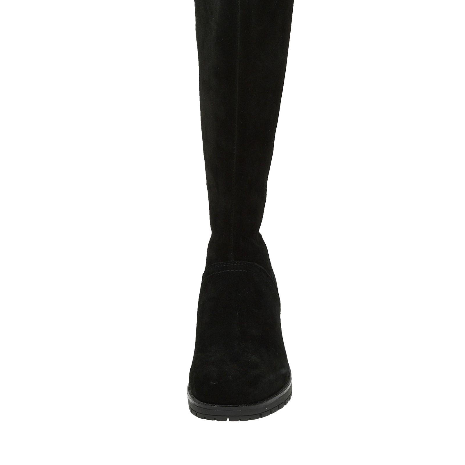 Rieker dámske semišové čižmy na zips - čierne ... 06fc35e67c6