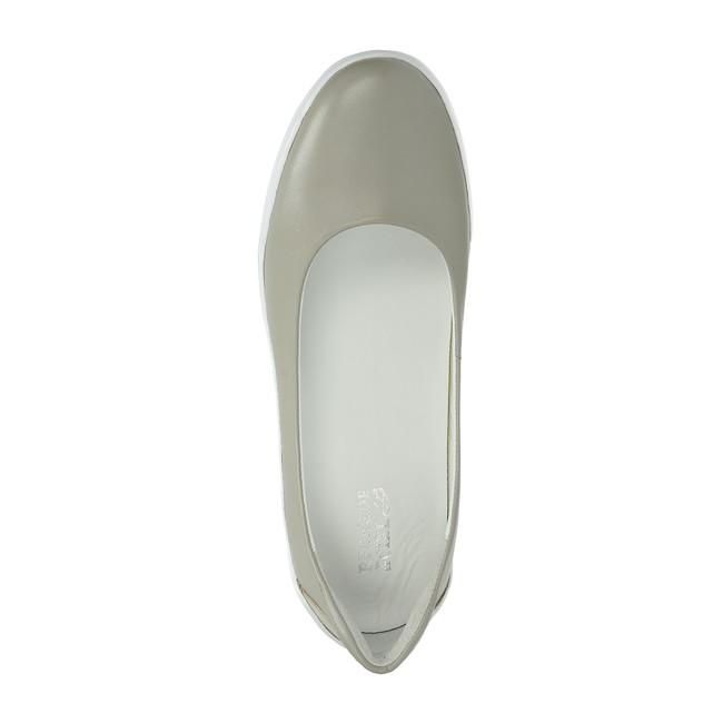Regarde le ciel dámske kožené balerínky - šedé