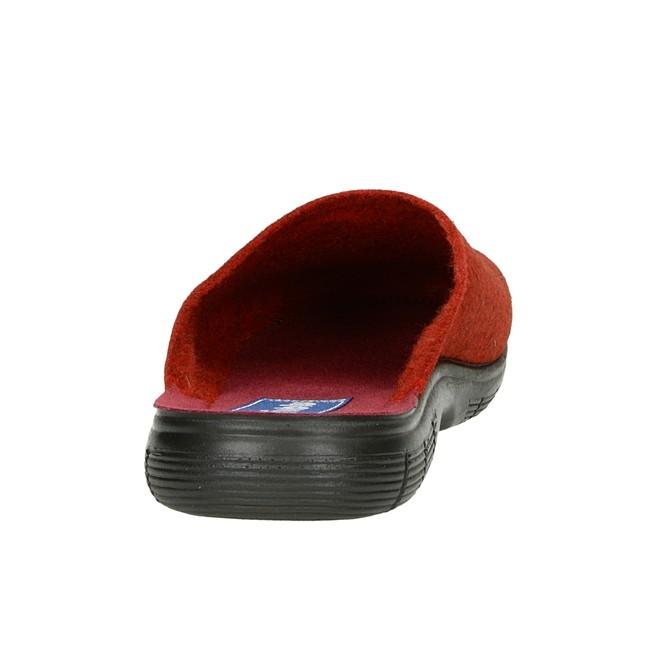 Inblu dámska domáca obuv s ozdobnými kamienkami - červená