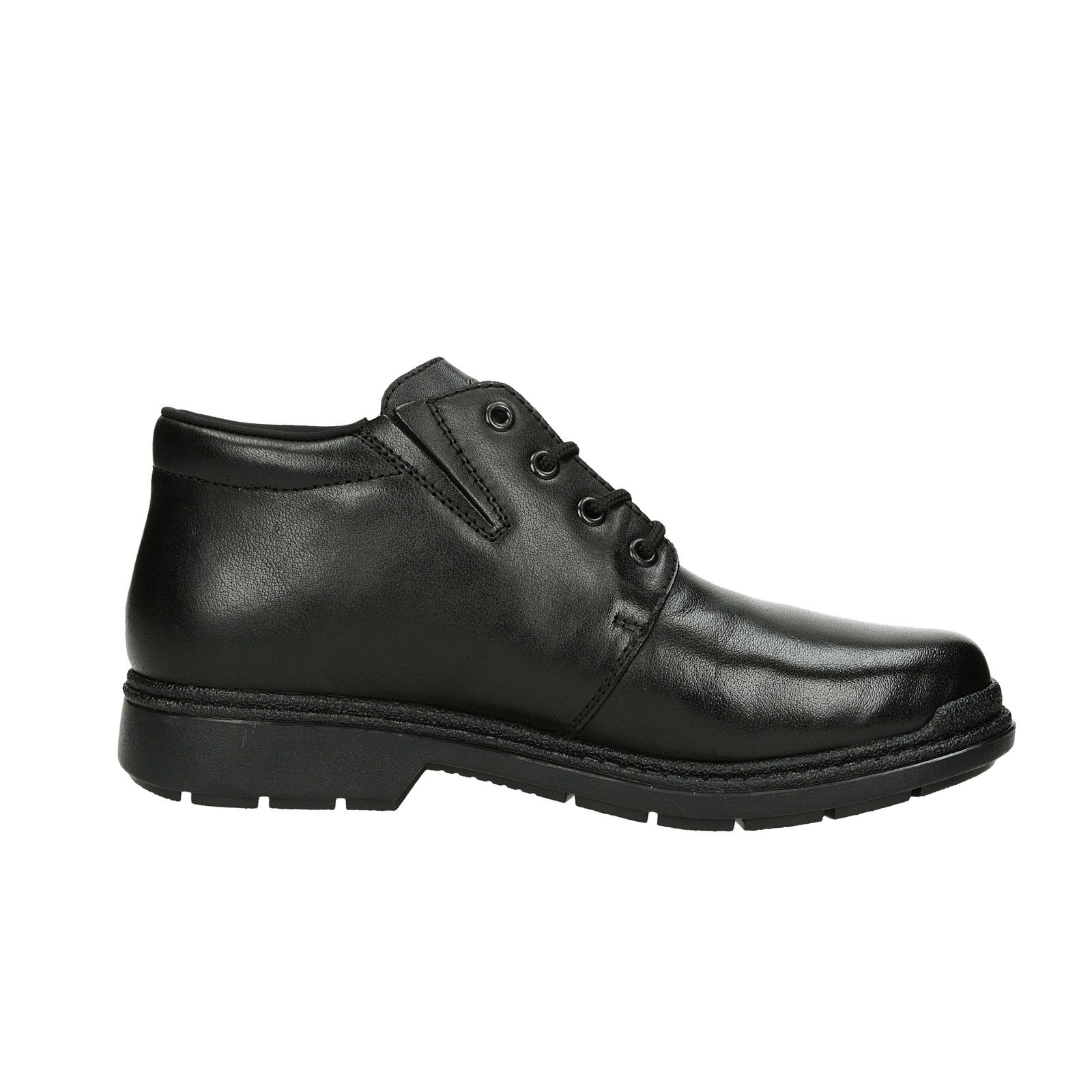 Rieker pánska kožená členková obuv - čierna