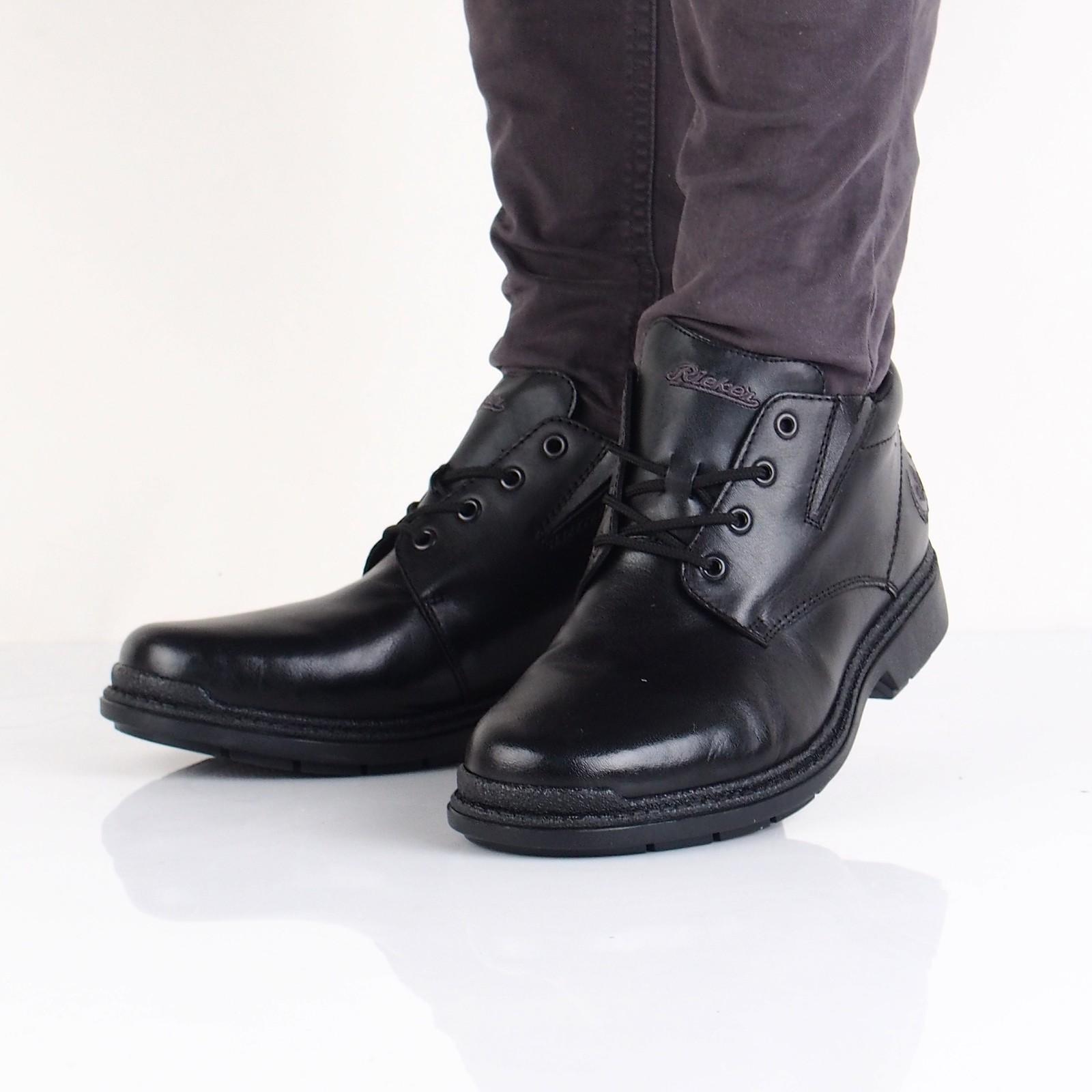 490394e938 Rieker pánska kožená členková obuv - čierna ...