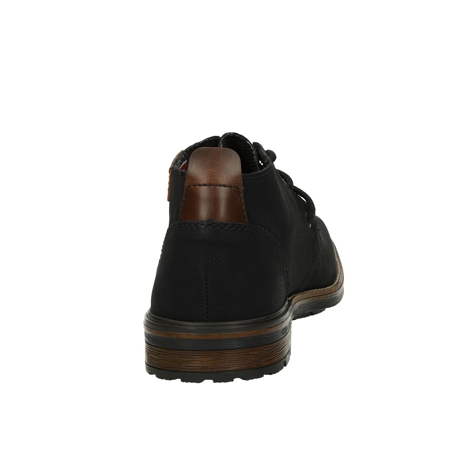 Rieker pánska pohodlná členková obuv - čierna
