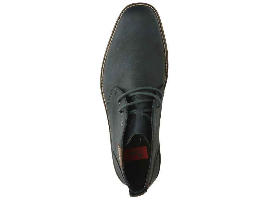 Rieker pánska štýlová členková obuv - modrá
