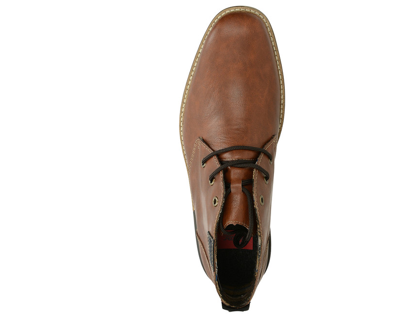 Rieker pánska štýlová členková obuv - koňaková