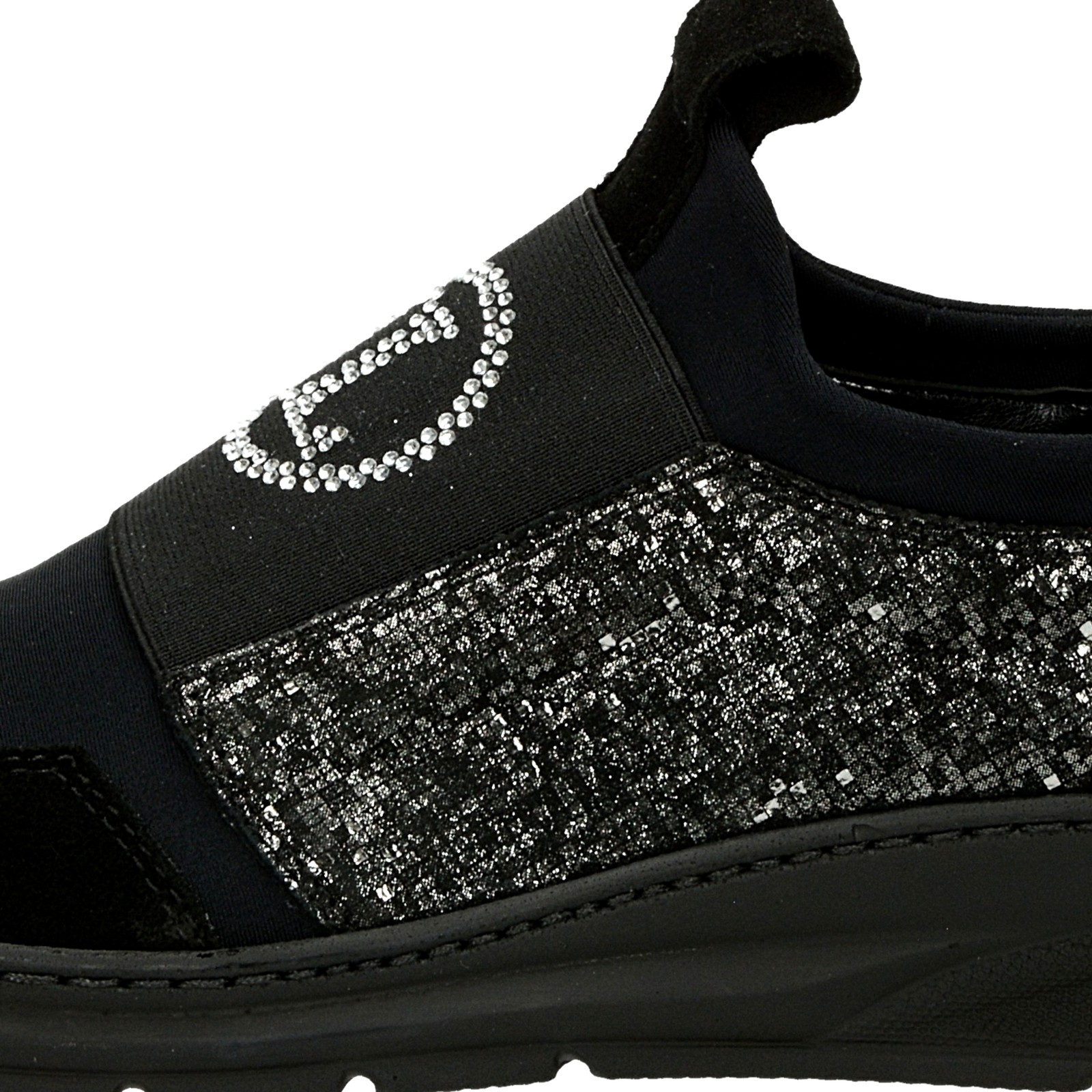 e5d3bfda9068 ... Olivia shoes dámske tenisky s ozdobnými kamienkami - čierne ...