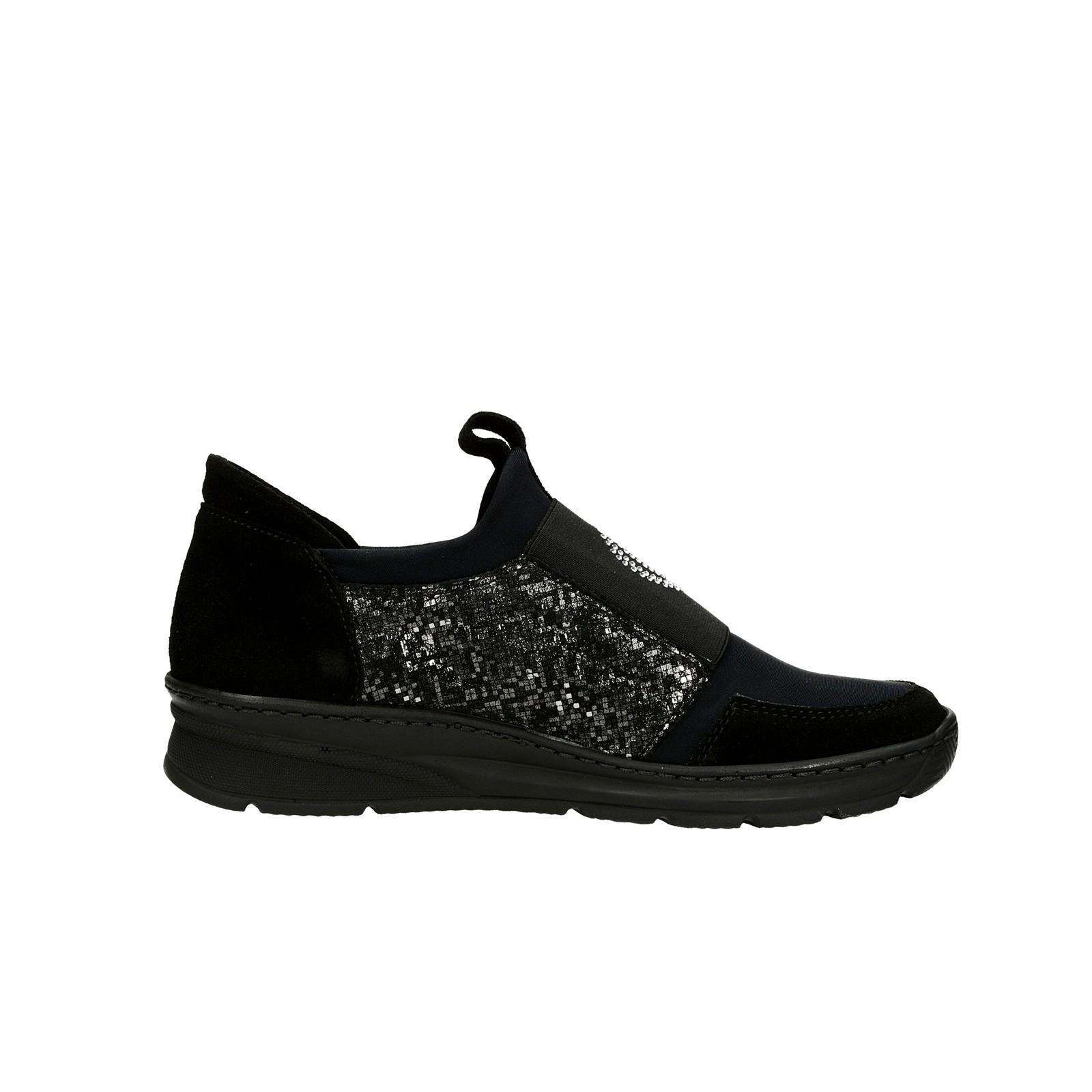 Olivia shoes dámske tenisky s ozdobnými kamienkami - čierne ... ad3032a5654