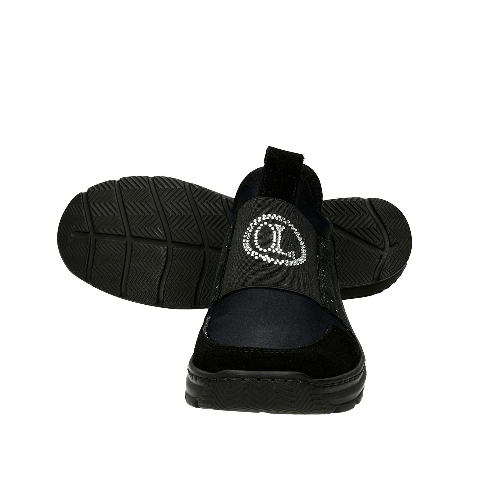 ... Olivia shoes dámske tenisky s ozdobnými kamienkami - čierne ... f26074a9be4