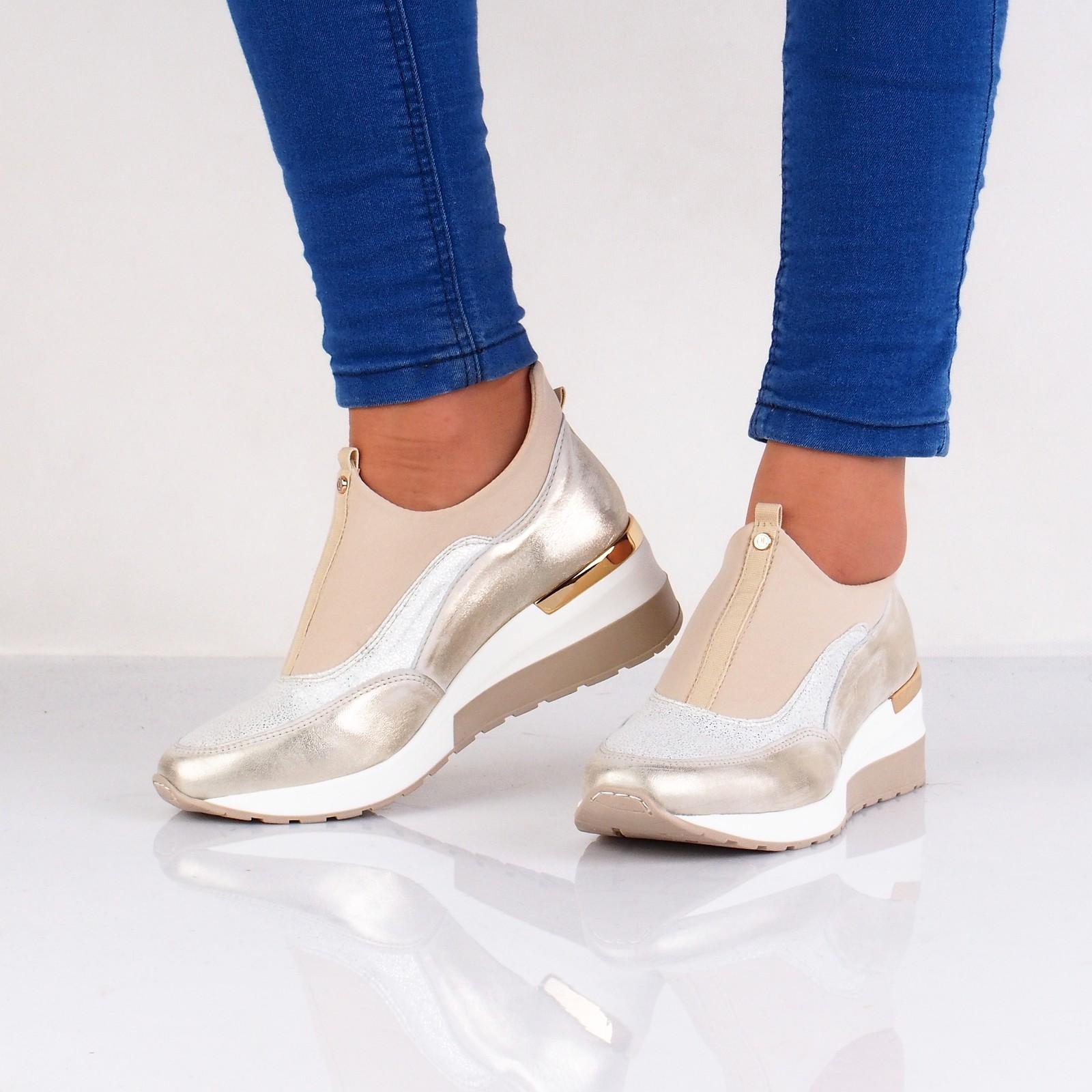 Olivia shoes dámske pohodlné štýlové tenisky - béžové