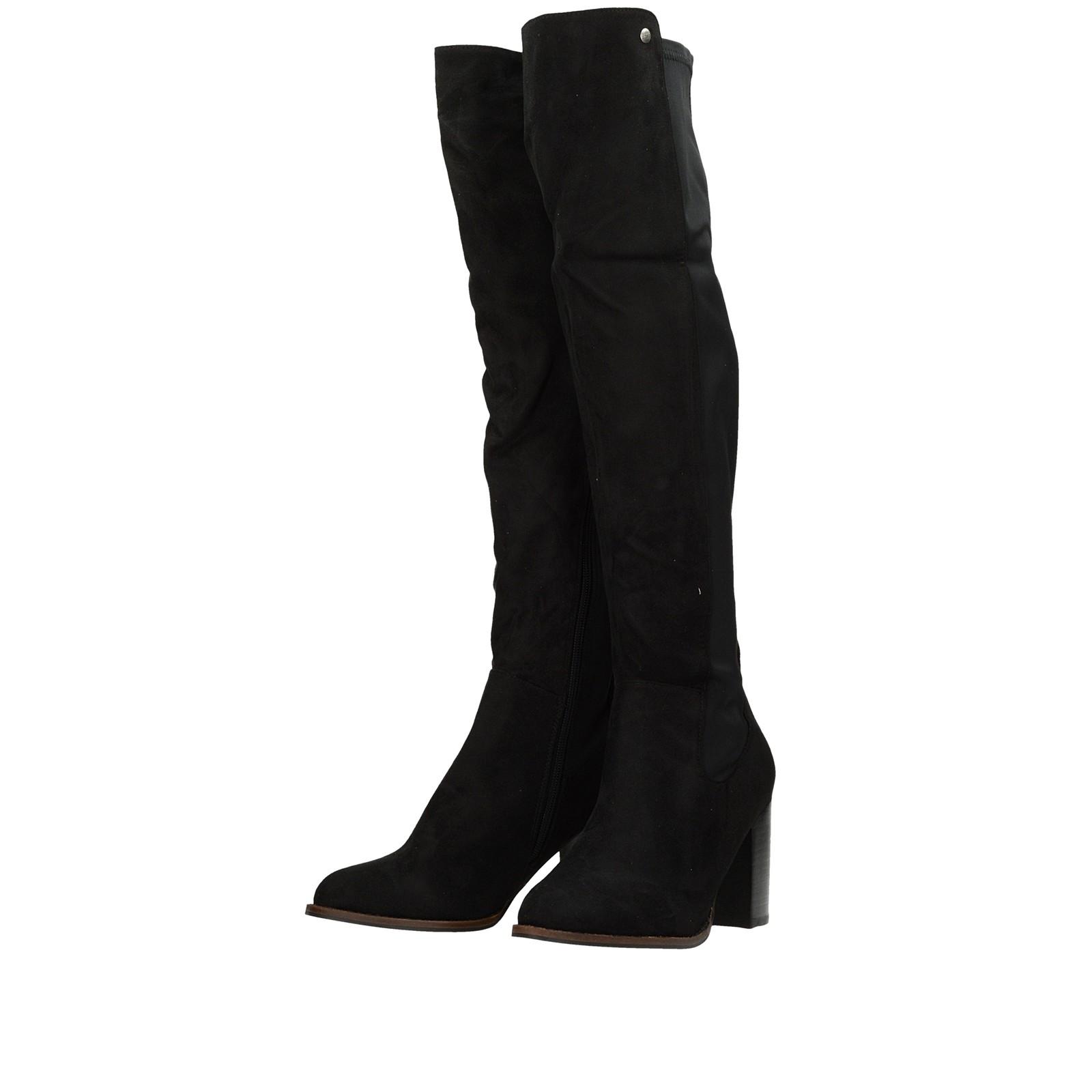 02711dd09aa7 ... Big Star dámske textilné vysoké čižmy - čierne ...