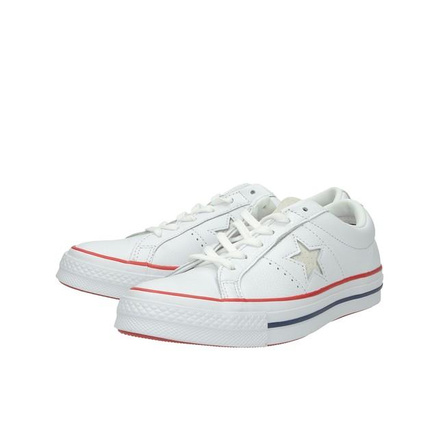 306205f81a ... Converse dámske kožené tenisky - biele ...