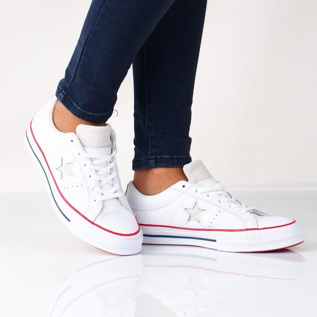 1c7d5149da Converse dámske kožené tenisky - biele ...
