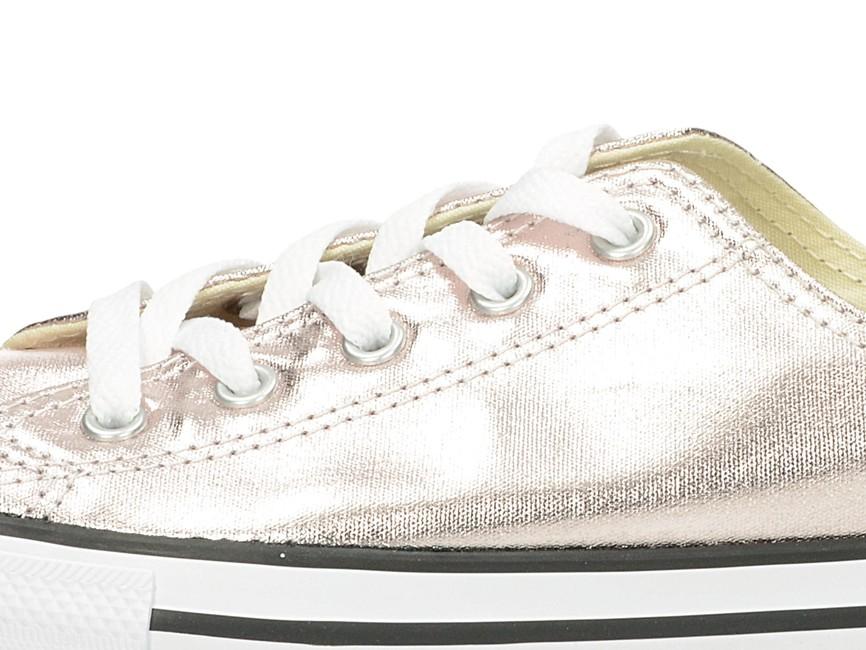 7acca89d2b ... Converse dámske lesklé tenisky - ružovo zlaté ...