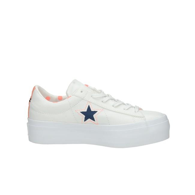 Converse dámske štýlové tenisky na platforme - biele ... c4dc212ba84