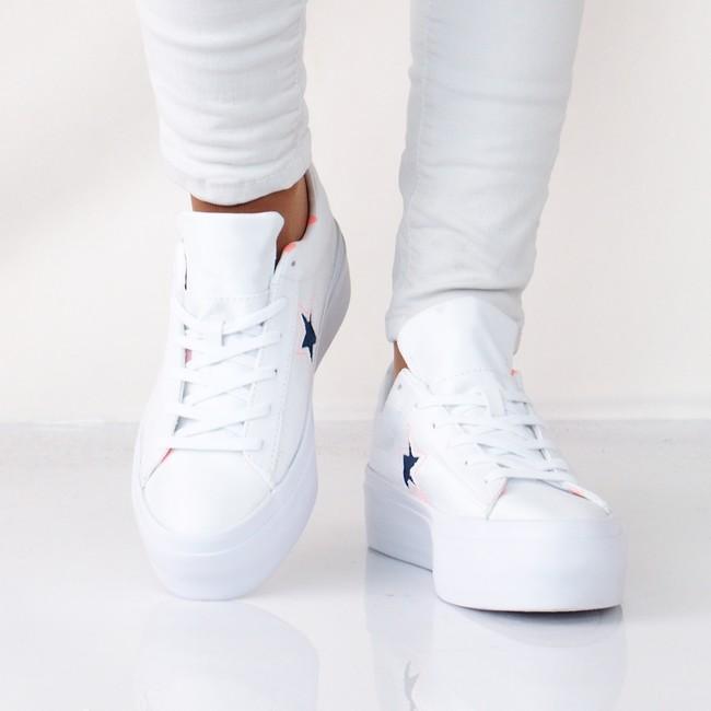 ... Converse dámske štýlové tenisky na platforme - biele ... cf3747f94c7