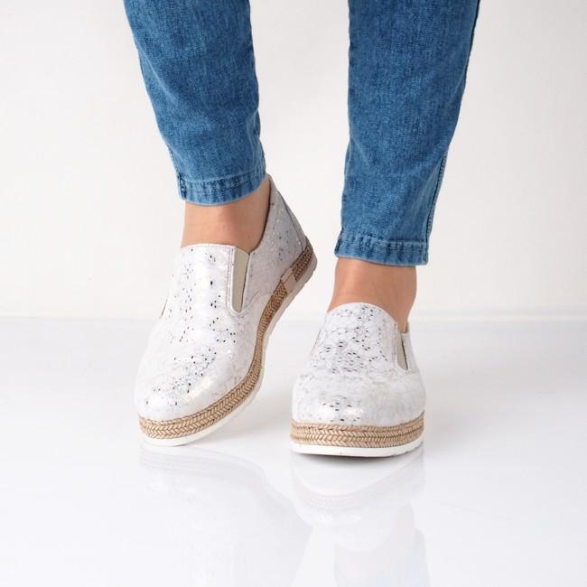 Olivia shoes dámske pohodlné espadrilky - šedé