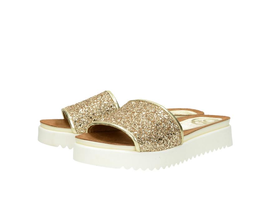 664e998e3ea9 Olivia shoes dámske šľapky - zlaté ...