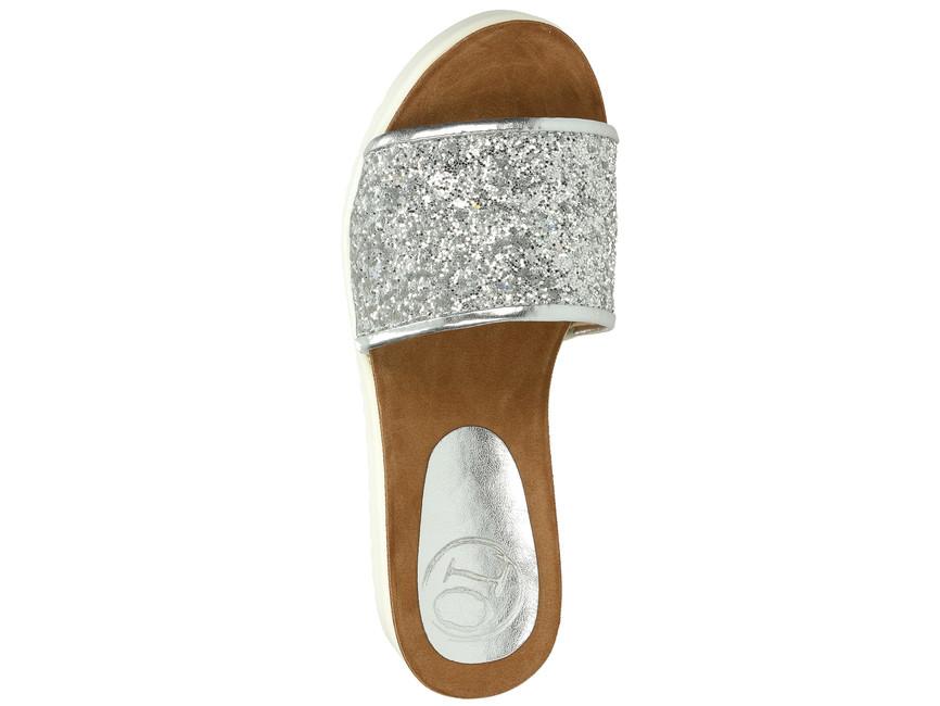 Olivia shoes dámske šľapky - strieborné ... 914135be9fc