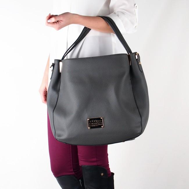 Nóbo dámska klasická kabelka - šedá ... 92853e55fc7