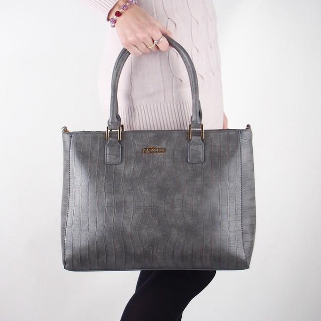 Nóbo dámska štýlová kabelka - šedá