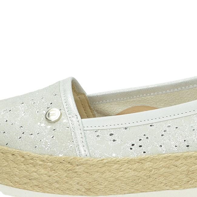 Olivia shoes dámske espadrilky na platforme - strieborné