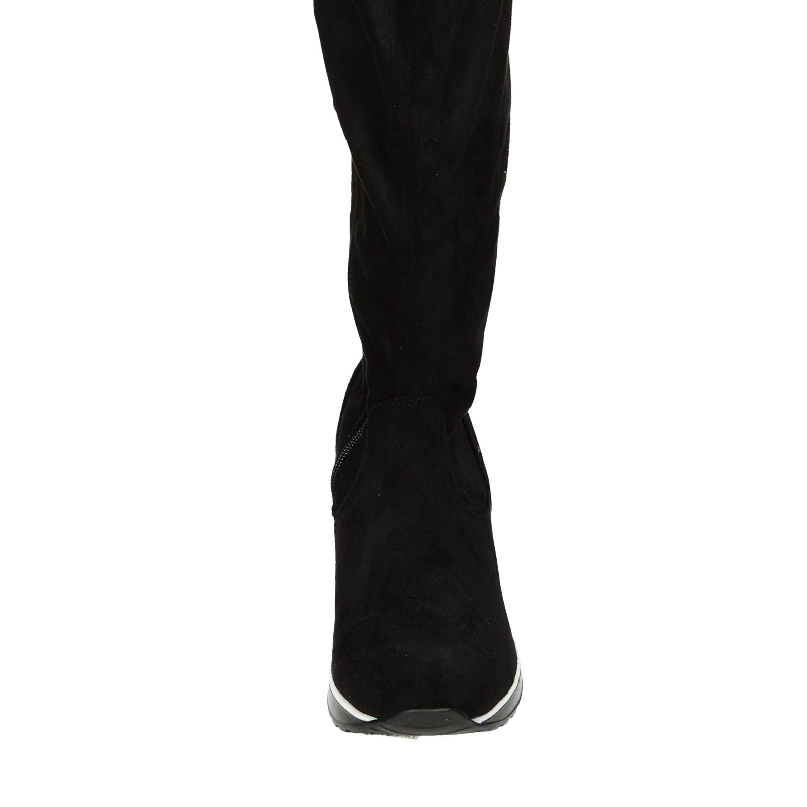 7c65c6801f Olivia shoes dámske vysoké semišové čižmy - čierne ...