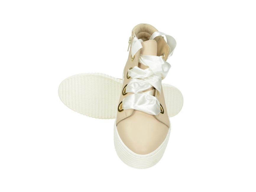Olivia shoes dámske štýlové tenisky na platforme - béžové ... 3ed62f2dc3