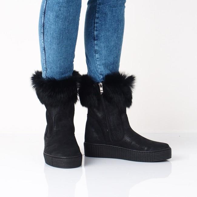7ad1cd14b6 Olivia shoes dámske pohodlné nízke čižmy - čierne ...