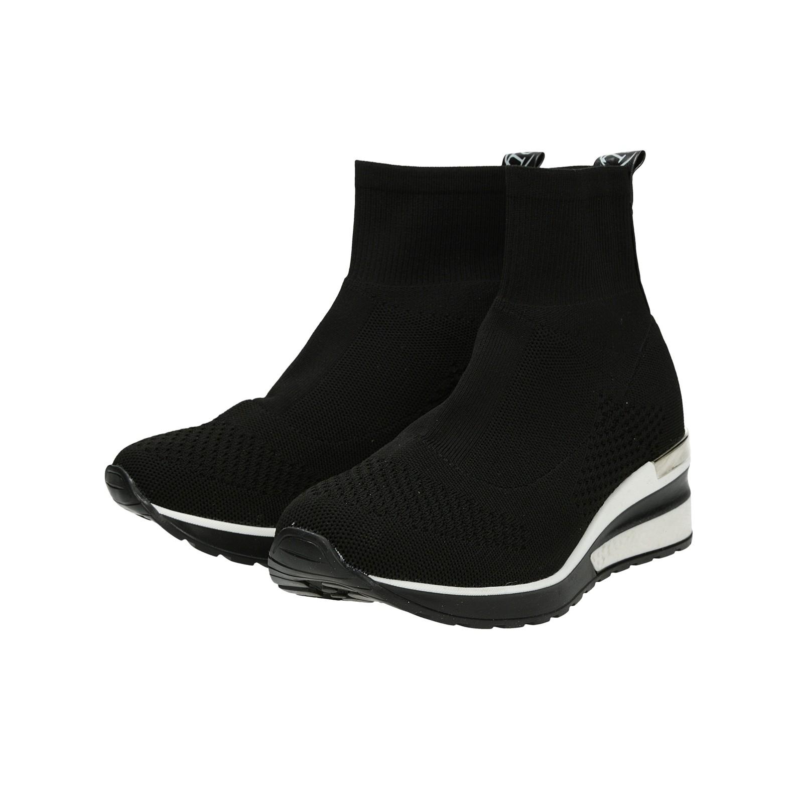 Olivia shoes dámske štýlové tenisky bez šnúrovania - čierne