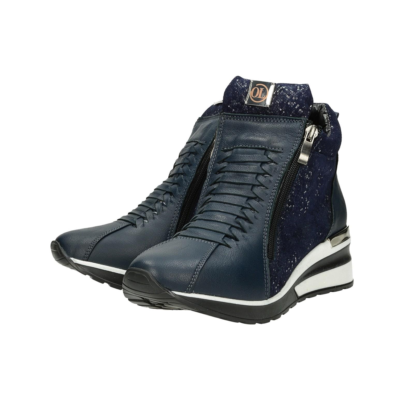 21430dae1b81 ... Olivia shoes dámske kožené štýlové kotníky - modré ...