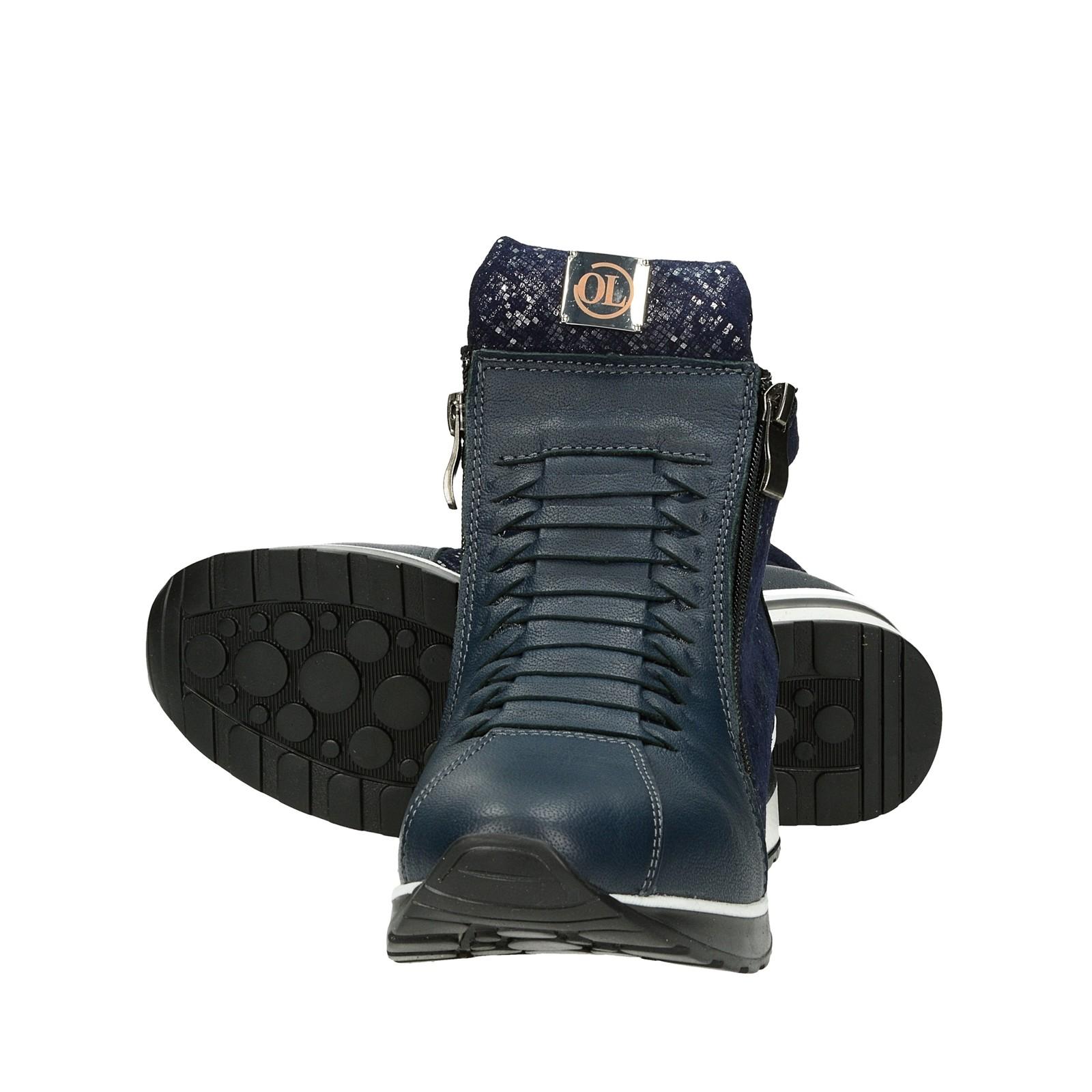 7a9ae998d26 Olivia shoes dámske kožené štýlové kotníky - modré ...