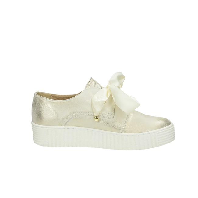 Olivia shoes dámske kožené tenisky- zlaté ... 3cf406b995f