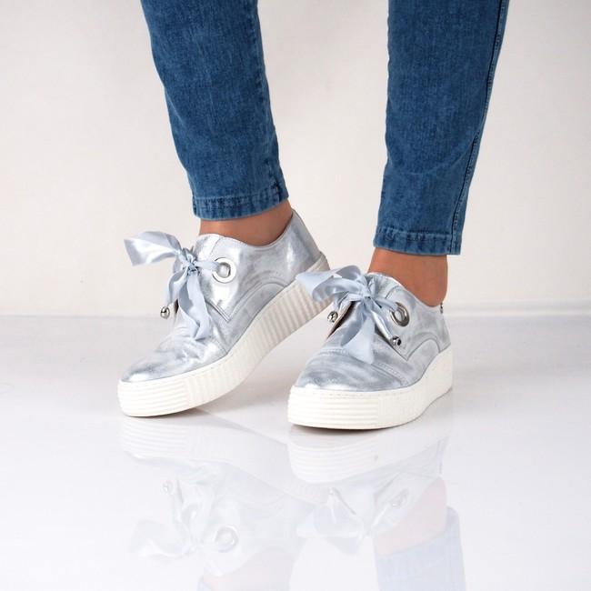 8f623f7f3b34 Olivia shoes dámske kožené tenisky- strieborné ...
