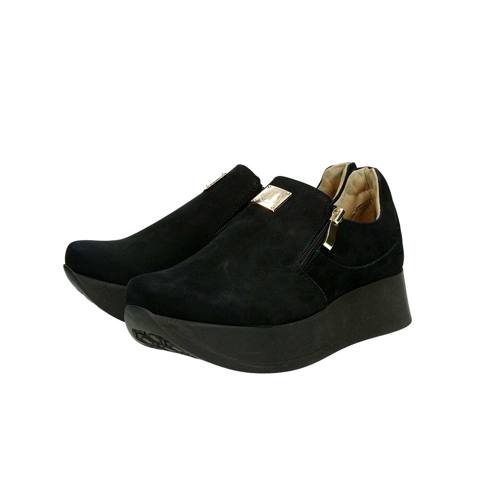b0f76896562c ... Olivia shoes dámske nubukové poltopánky na platforme - čierne ...