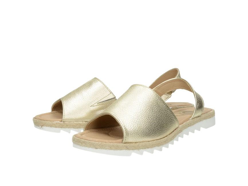 fde526c10655 Olivia shoes dámske kožené sandále - zlaté ...