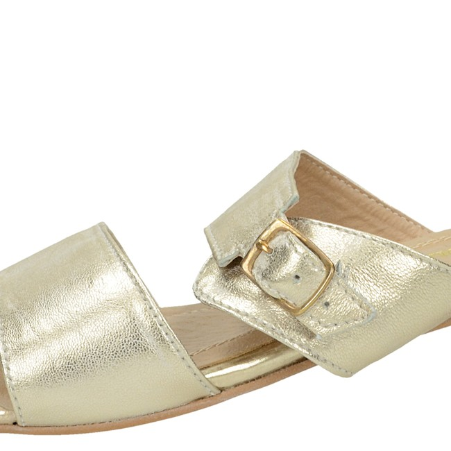 3106c1b2d2 ... Olivia shoes dámske elegantné šľapky s remienkom - zlaté ...