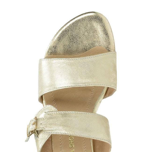 9f4c6d583e Olivia shoes dámske elegantné šľapky s remienkom - zlaté ...