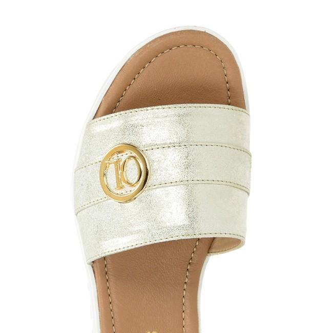 Olivia shoes dámske elegantné šľapky - strieborné ... 00fdcaa4e57