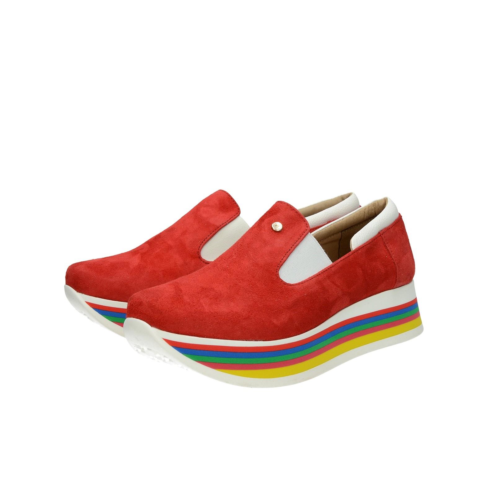 1fcfb07737e58 Olivia shoes dámske štýlové semišové poltopánky - červené | DTE054 ...