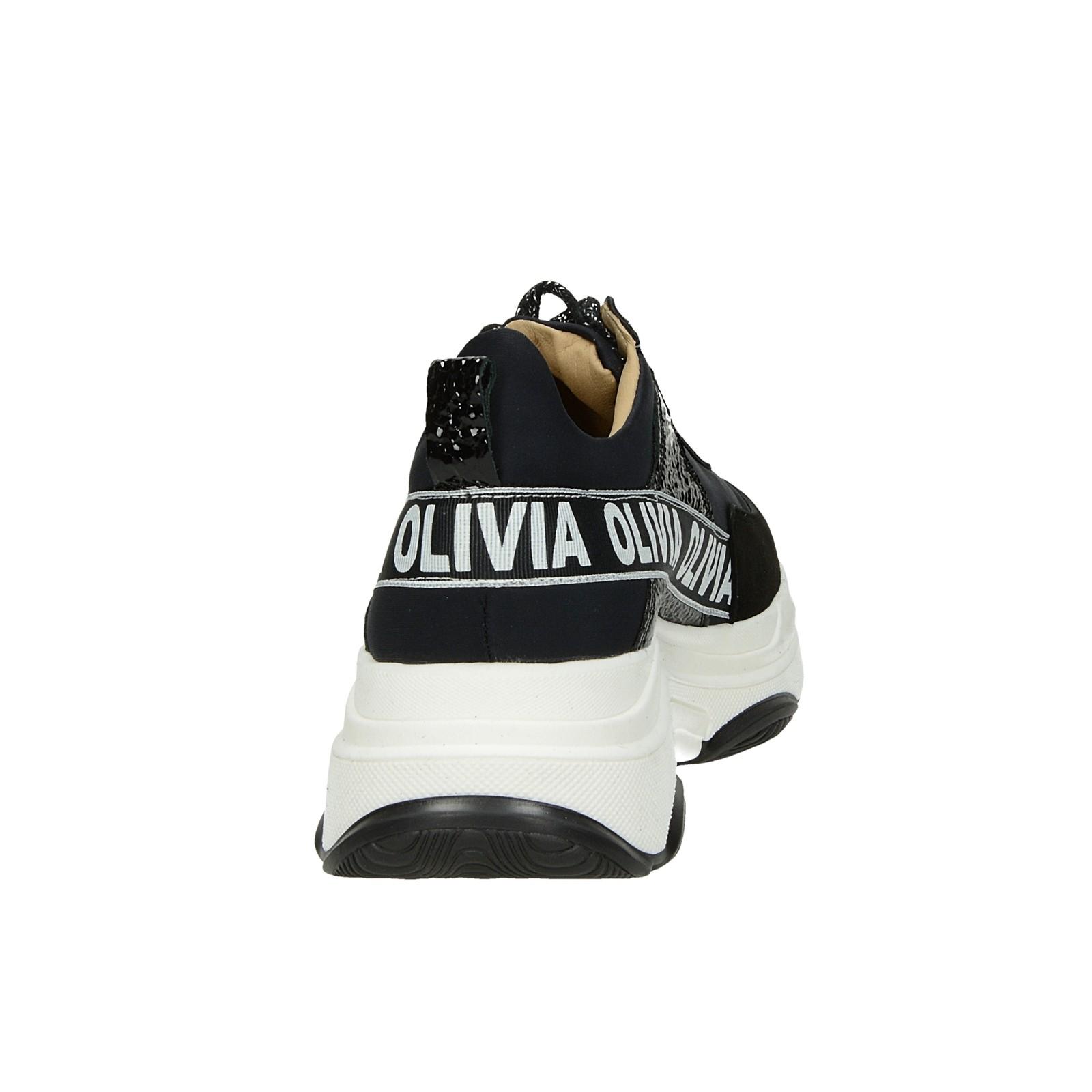 Olivia shoes dámske štýlové tenisky - čierne