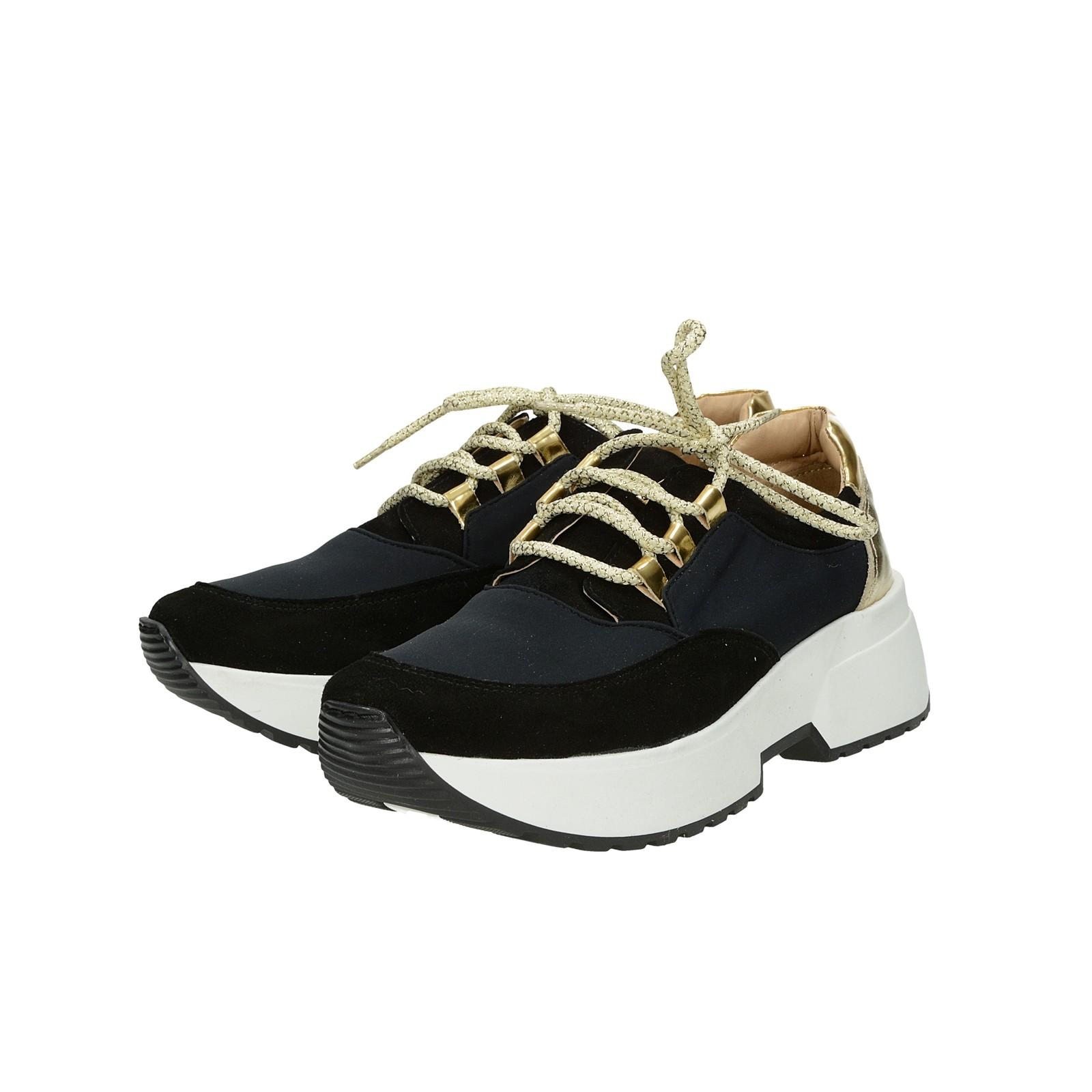 4526b49d21 Olivia shoes dámske kožené tenisky na podpatku - čierne ...